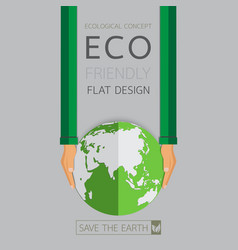 Eco friendly flat design vector