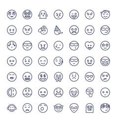 Emoticon icons vector