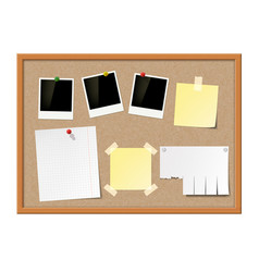 Empty photo frames paper notes vector