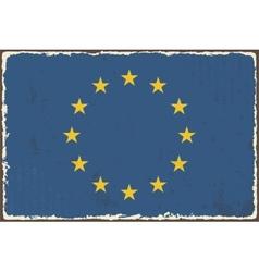 European Union grunge flag vector image