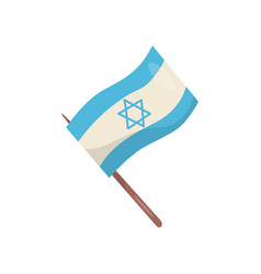 flag of israel on a white vector image