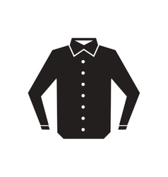 Flat icon in black and white men shirt vector