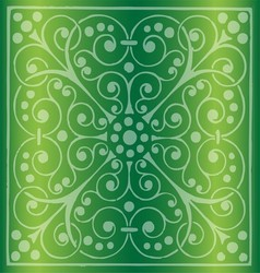 Floral Pattern on a Green Background vector image