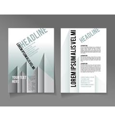 flyer brochure design template abstract vector image