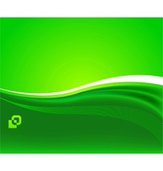 Green sunshine - ecological background vector