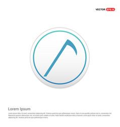 Halloween trident icon - white circle button vector