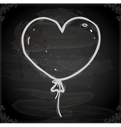 Hand drawn love heart balloon vector