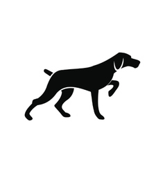 Hunting dog black simple icon vector image