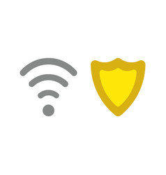 Icon concept of wireless wifi symbol with guard vector