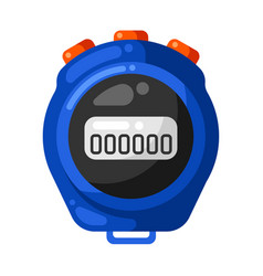 icon timer stopwatch in flat style vector image