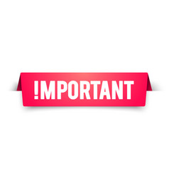 Important notice attention banner alert label vector