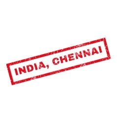 India Chennai Rubber Stamp vector