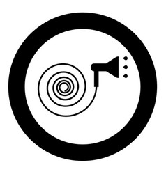 Jets water irrigates icon black color in circle vector