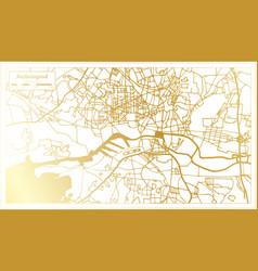 kaliningrad russia city map in retro style vector image