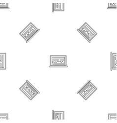 laptop finance pattern seamless vector image