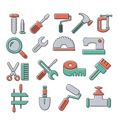 Linear icons tools vector