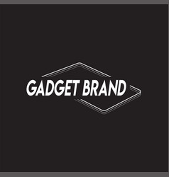 logo for business gadget vector image