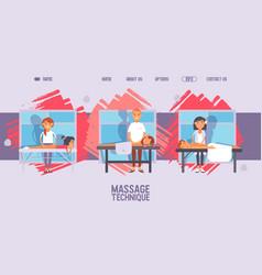 massage salon website healthcare center cartoon vector image