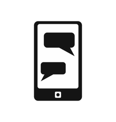 Messages on phone simple icon vector