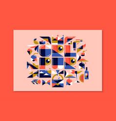 Modern lettering girl power colorful poster vector