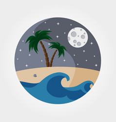 night sandy beach vector image