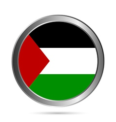 Palestine flag button vector