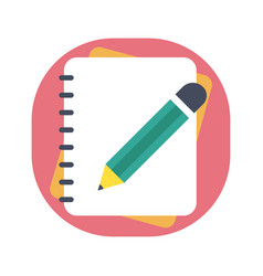 pencil with notebook vector image