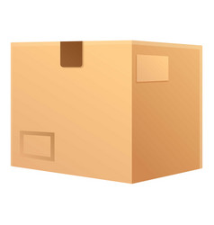 Postal parcel icon cartoon style vector
