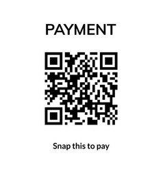 qr code transaction mobile receipt icon vector image