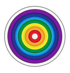 rainbow circle paper vector image