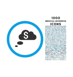 Richness Dream Clouds Rounded Symbol With 1000 vector