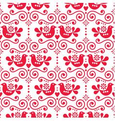 scandinavian folk seamless pattern vector image