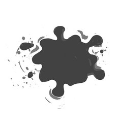 shaped and sized abstract ink blots isolated on vector image
