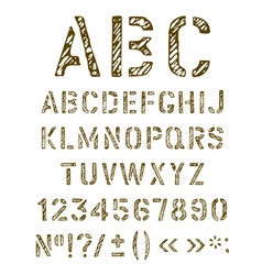 Stencil letters set vector image vector image