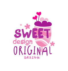sweet logo original design label for vector image
