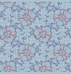 taraxacum seamless pattern background vector image