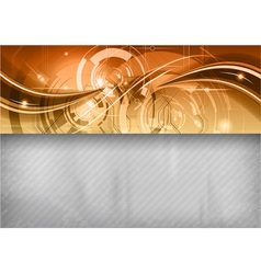 tech background line top gold vector image