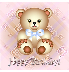 Teddy card vector image