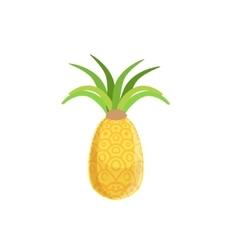 Tellow Fresh Pineapple vector