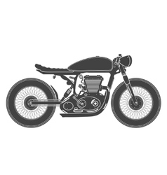 vintage motorcycle cafe racer theme vector image
