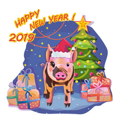 Year of the pig vector