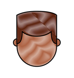 Young man black character vector