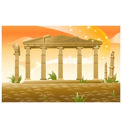 Greek Columns vector image