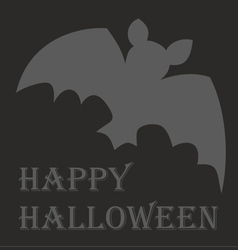 Happy Halloween party card with hand drawn bat vector image vector image
