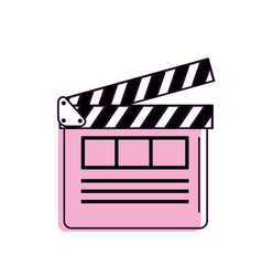 Clapperboard to short film projection studio vector