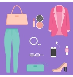 Clothes collection vector image