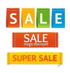 Clothes Sale Labels Set vector image vector image