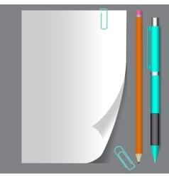 Empty paper sheet EPS10 vector image