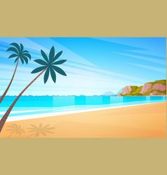 sea shore sand beach summer vacation blue sky sun vector image