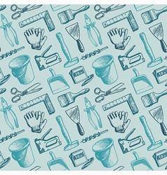 Tools Instruments Seamless Pattern vector image